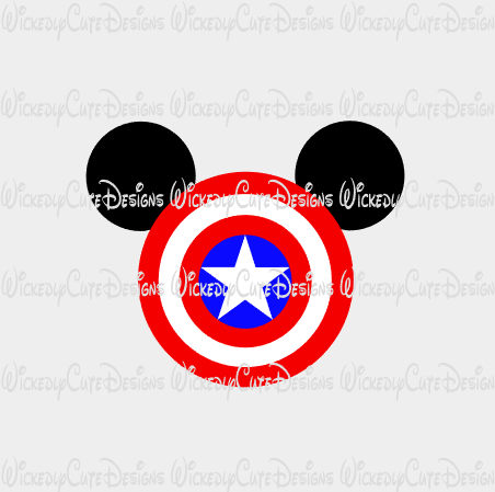Captain America Mouse Head SVG, DXF, EPS, PNG Digital File