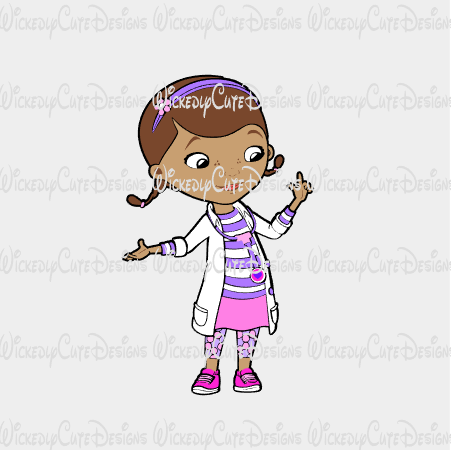 Doc McStuffins SVG, DXF, EPS, PNG Digital File