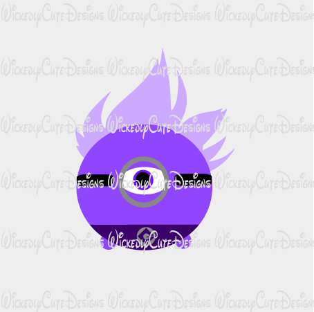 Evil Purple Minion Tsum Tsum SVG, DXF, EPS, PNG Digital File