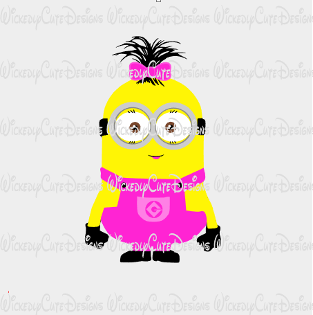 Girl Minion SVG, DXF, EPS, PNG Digital File