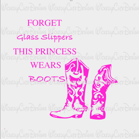 Glass Slippers and Boots SVG, DXF, EPS, PNG Digital File