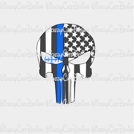 Gray Punisher with Scope SVG, DXF, EPS, PNG Digital File