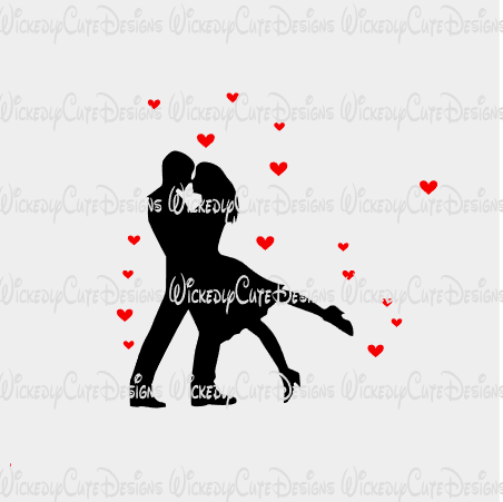 Hearts in Love SVG, DXF, EPS, PNG Digital File