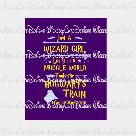 Hogwarts Girl SVG, DXF, EPS, PNG Digital File