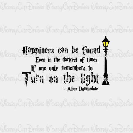 Harry Potter Happiness Quote SVG, DXF, EPS, PNG Digital File