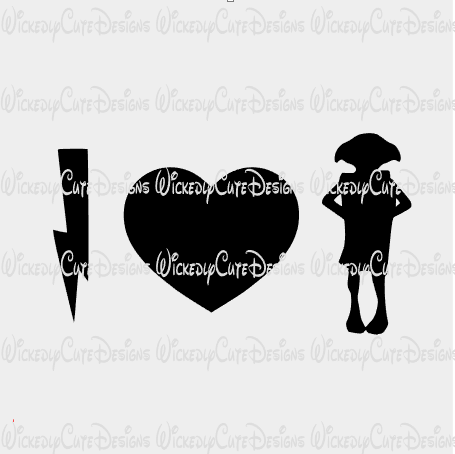 I Love Doby SVG, DXF, EPS, PNG Digital File