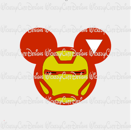 Ironman Mouse Head SVG, DXF, EPS, PNG Digital File