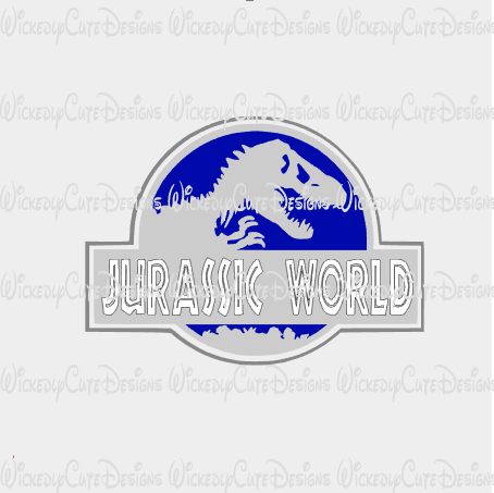 Jurassic World SVG, DXF, EPS, PNG Digital File