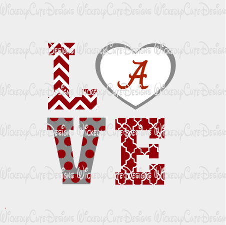 Love Alabama SVG, DXF, EPS, PNG Digital File