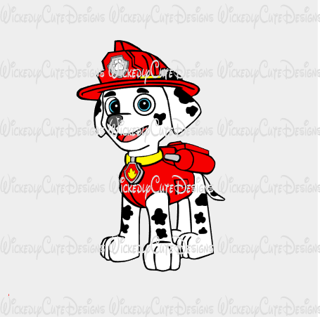 Marshall Paw Patrol SVG, DXF, EPS, PNG Digital File