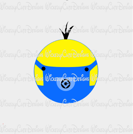 Minion Character Globe SVG, DXF, EPS, PNG Digital File