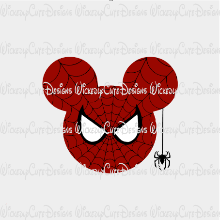 New Spiderman Mouse Head SVG, DXF, EPS, PNG Digital File