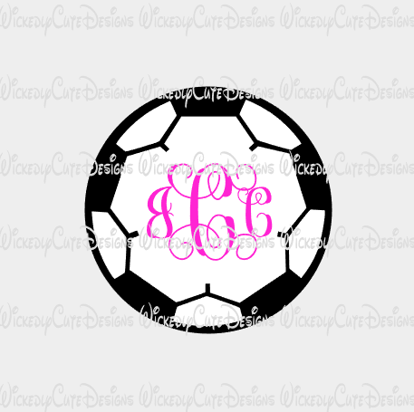 Soccer Monogram Frame SVG, DXF, EPS, PNG Digital File