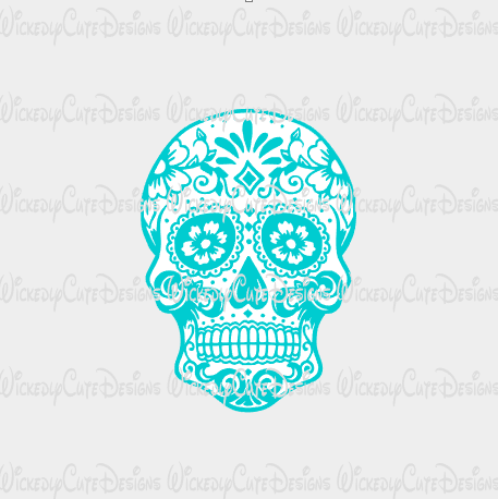 Sugar Skull 1 SVG, DXF, EPS, PNG Digital File