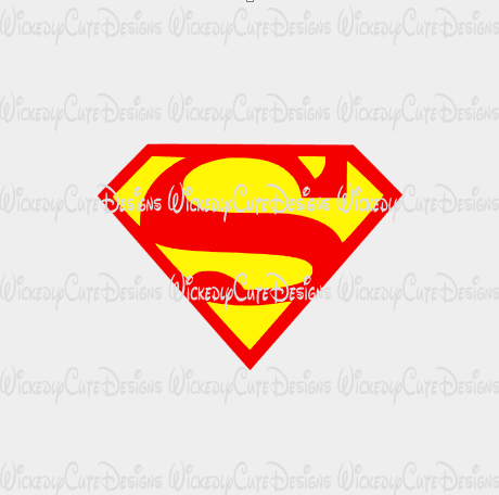 Superman Logo SVG, DXF, EPS, PNG Digital File