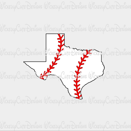 Texas Baseball SVG, DXF, EPS, PNG Digital File