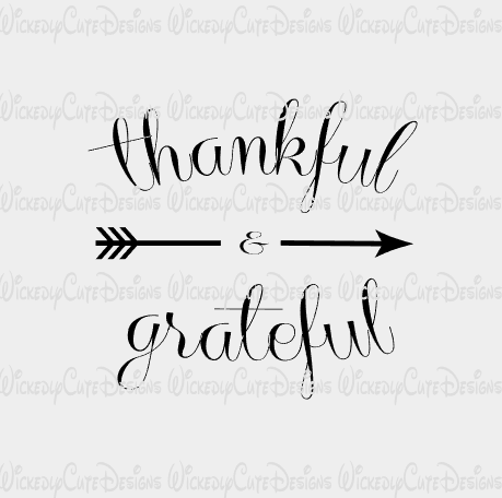 Thankful and Grateful SVG, DXF, EPS, PNG Digital File