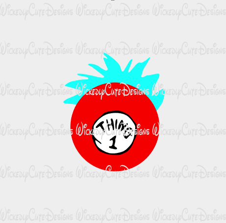 Thing One Character Globe SVG, DXF, EPS, PNG Digital File