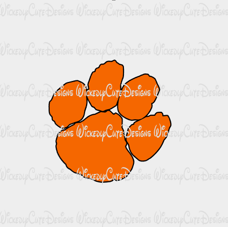 Tiger Paw SVG, DXF, EPS, PNG Digital File