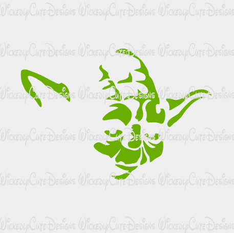 Yoda Silhouette SVG, DXF, EPS, PNG Digital File