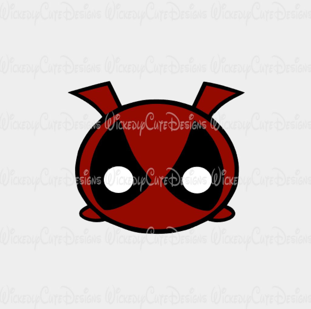 DeadPool Tsum Tsum SVG, DXF, EPS, PNG Digital File