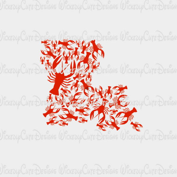 Louisiana State Crawfish SVG, DXF, EPS, PNG Digital File