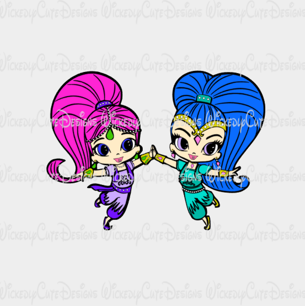 Shimmer and Shine SVG, DXF, EPS, PNG Digital File