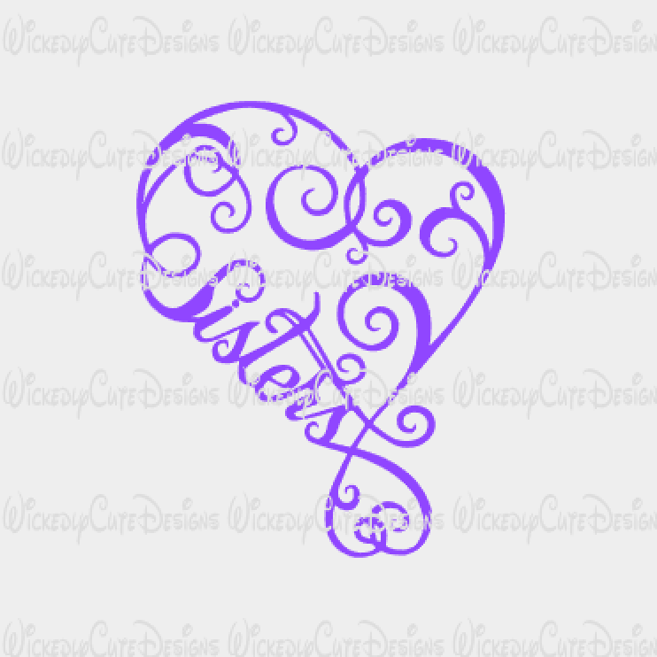 Sister 2 SVG, DXF, EPS, PNG Digital File