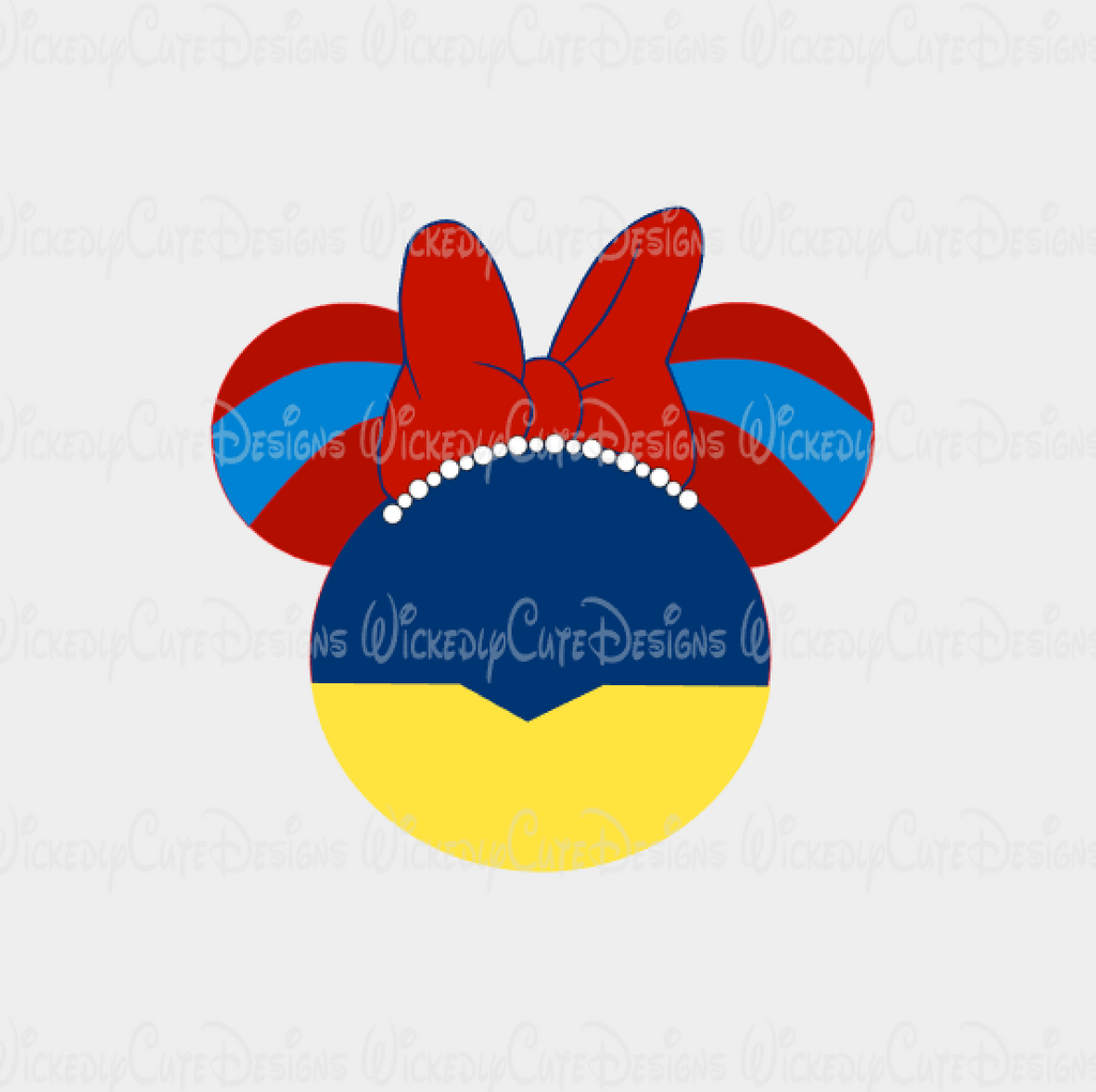 Snow White Mouse Head SVG, DXF, EPS, PNG Digital File