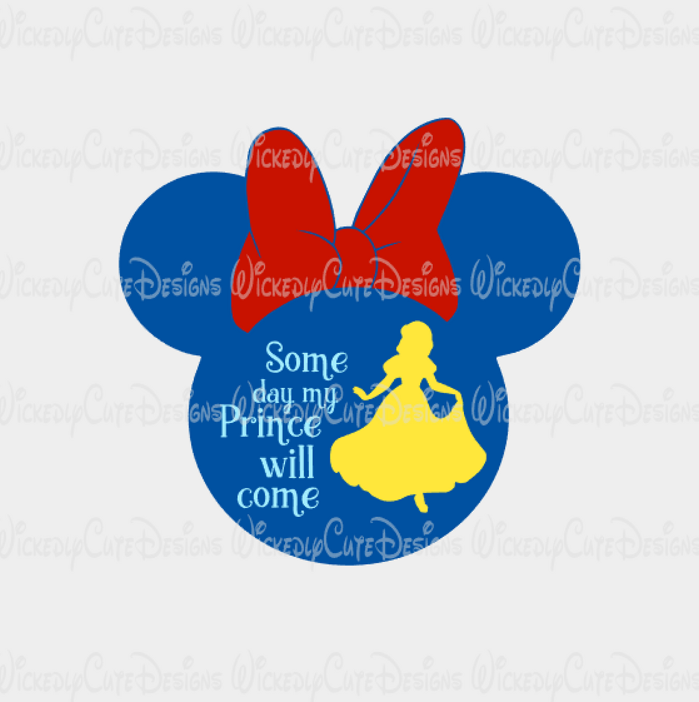 Snow White Mouse Head Silhouette SVG, DXF, EPS, PNG Digital File