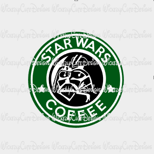 Star Wars Coffee SVG, DXF, EPS, PNG Digital File