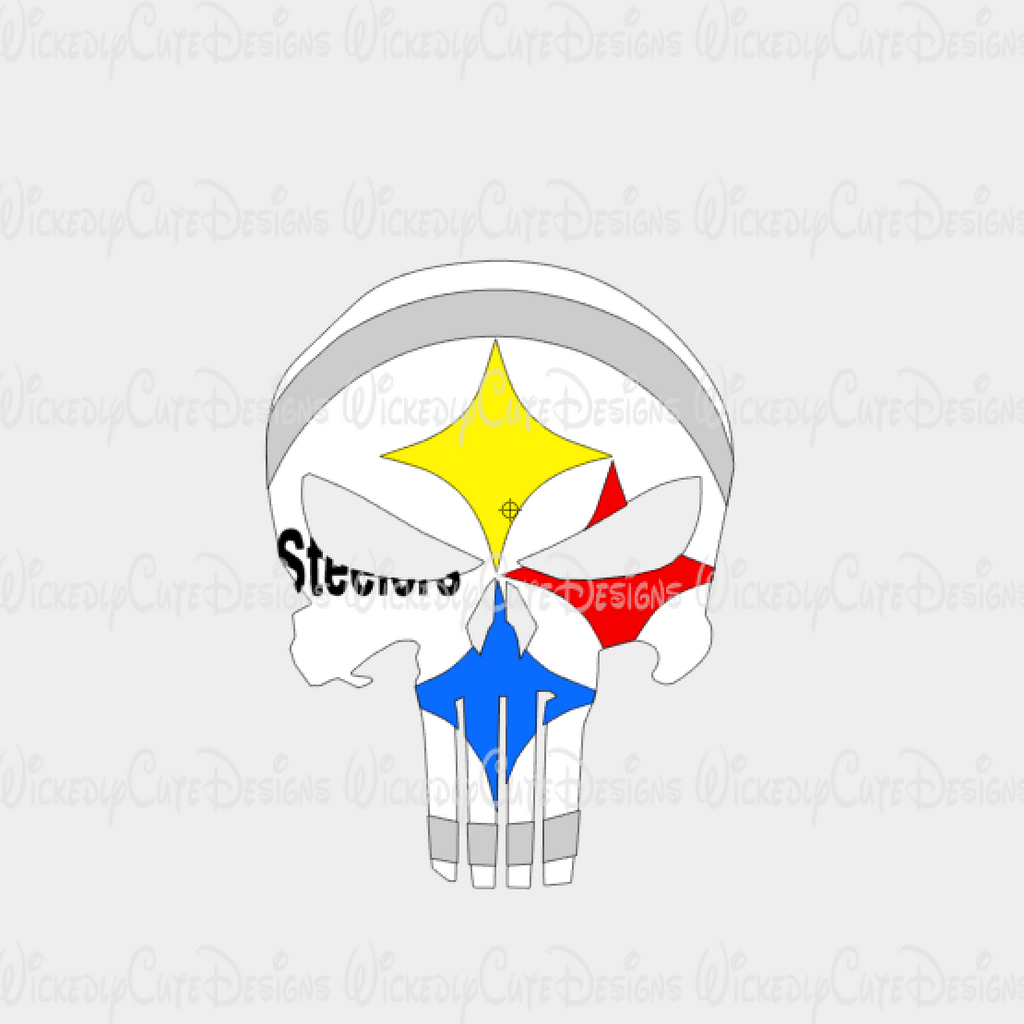 Steelers Punisher SVG, DXF, EPS, PNG Digital File