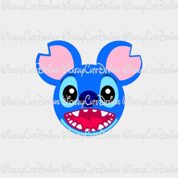 Stitch Mouse Head SVG, DXF, EPS, PNG Digital File