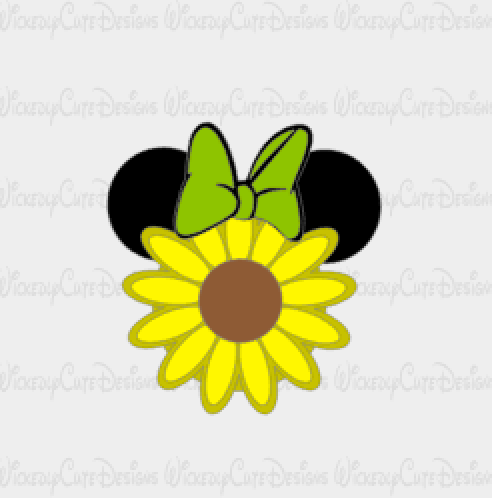 Sunflower Minnie Mouse SVG, DXF, EPS, PNG Digital File