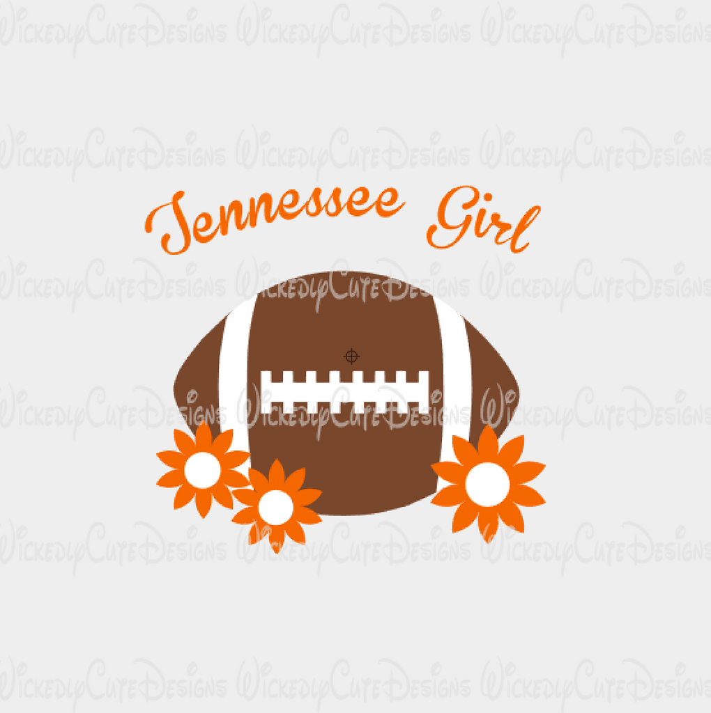 Tennessee Girl Football SVG, DXF, EPS, PNG Digital File