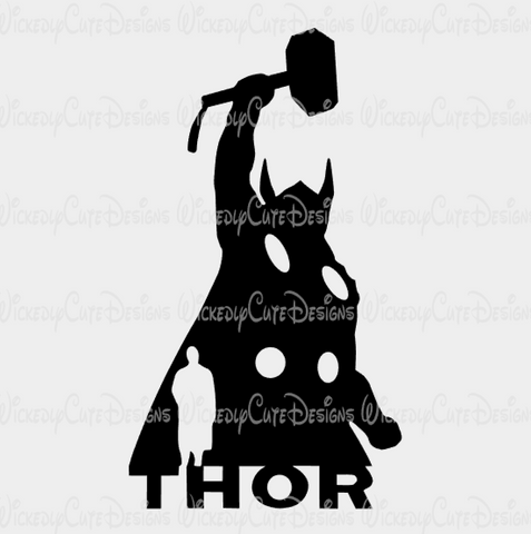 Thor Silhouette SVG, DXF, EPS, PNG Digital File