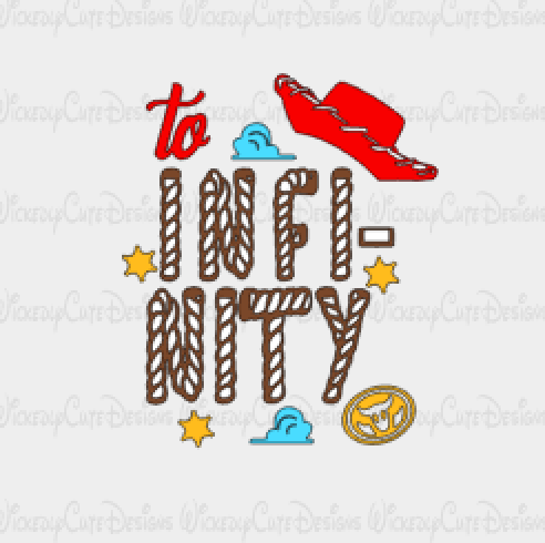 To Infinity Woody SVG, DXF, EPS, PNG Digital File
