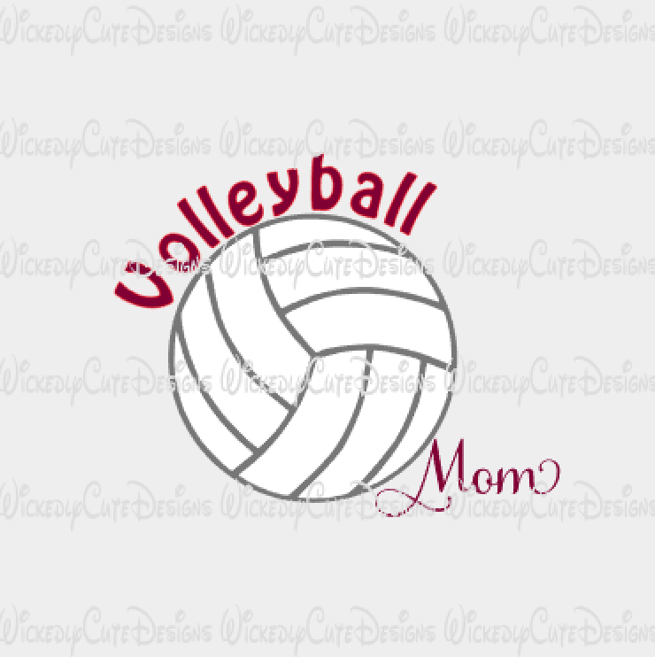 Volleyball Mom SVG, DXF, EPS, PNG Digital File