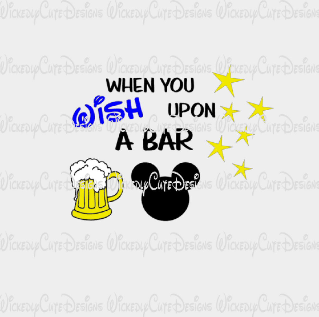 When You Wish Upon A Bar Mickey SVG, DXF, EPS, PNG Digital File