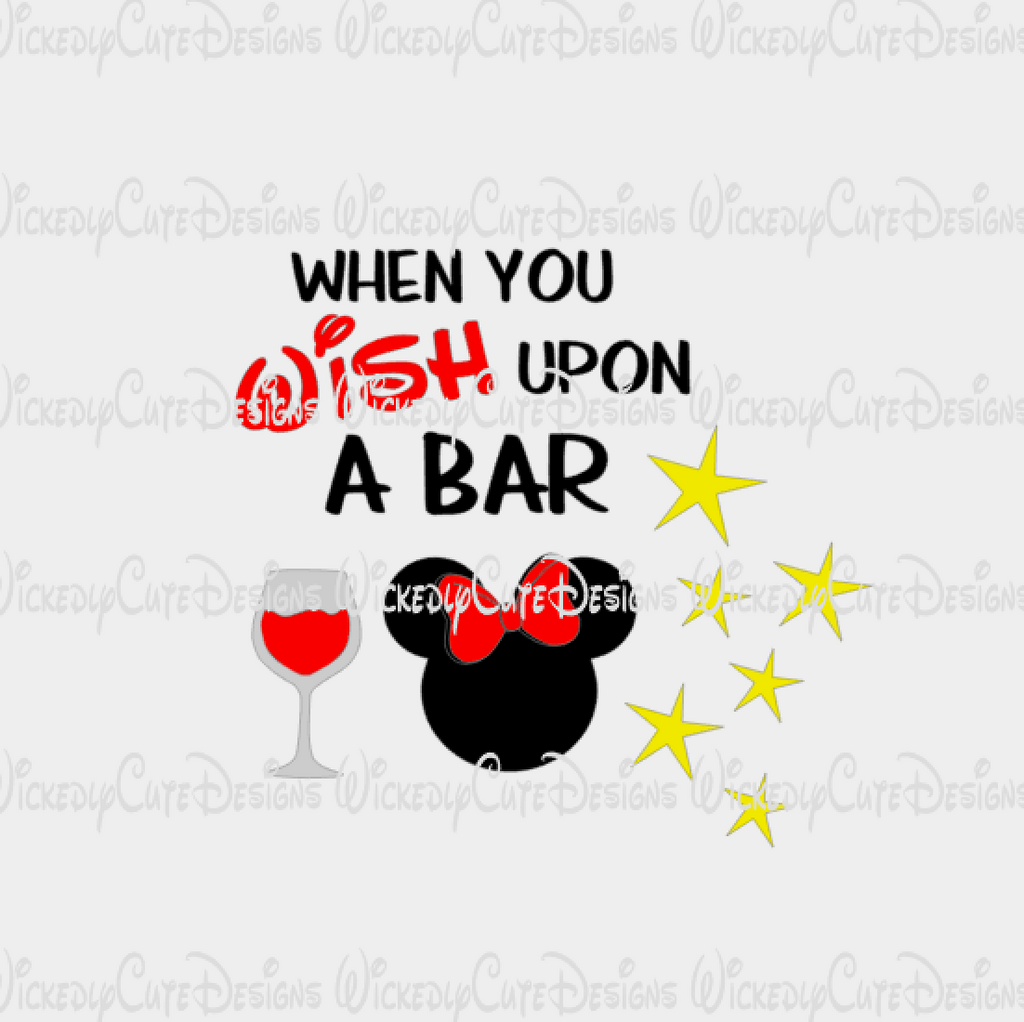When You Wish Upon A Bar Minnie SVG, DXF, EPS, PNG Digital File