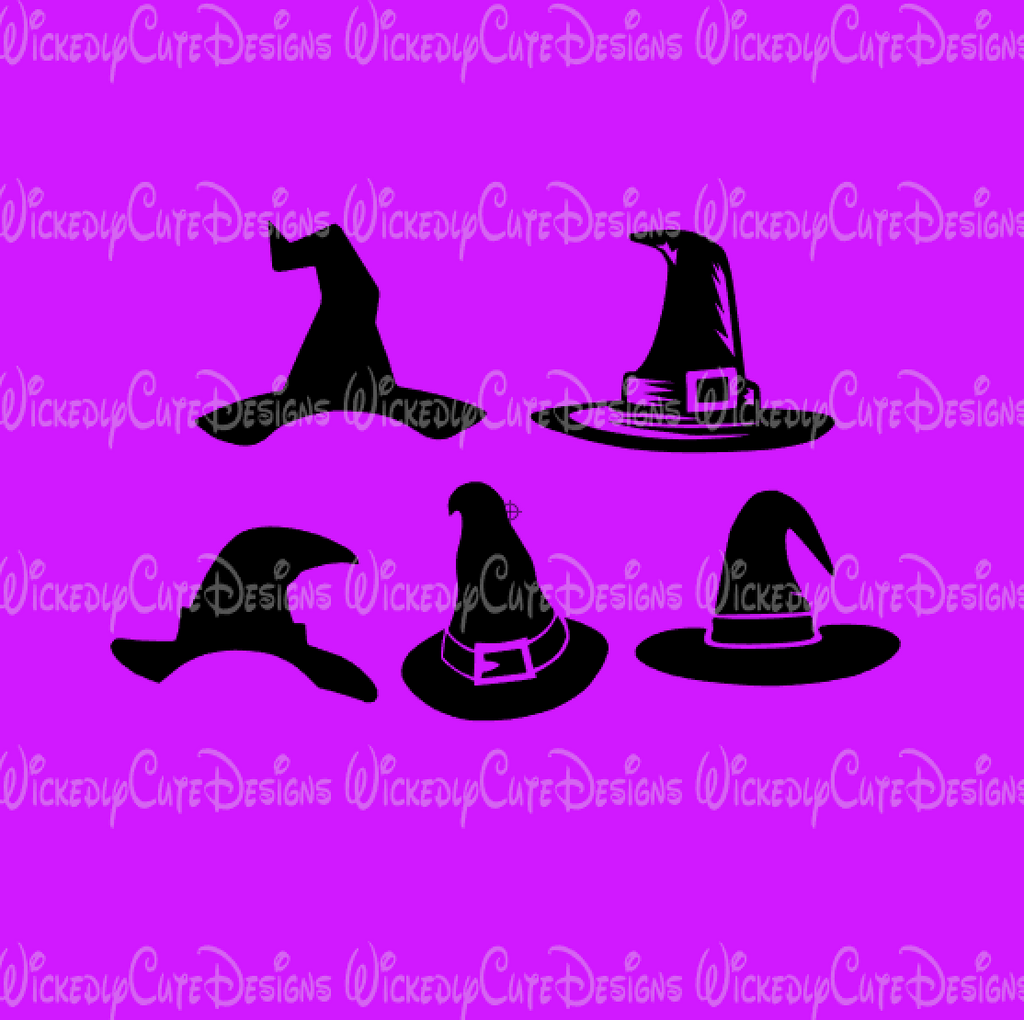 Witch Hat Collection 2 Svg Dxf Eps Png Digital File Wickedly Cute Designs