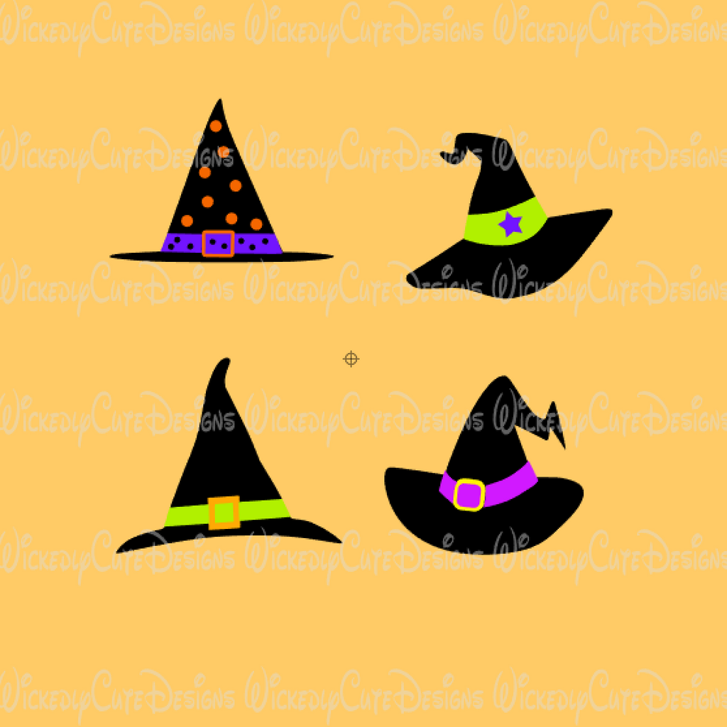 Witch Hat Collection SVG, DXF, EPS, PNG Digital File