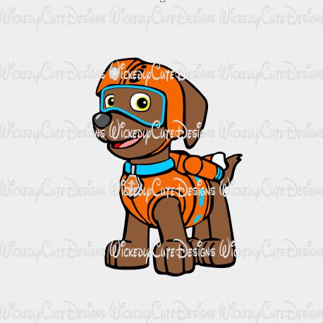 Zumba Paw Patrol SVG, DXF, EPS, PNG Digital File