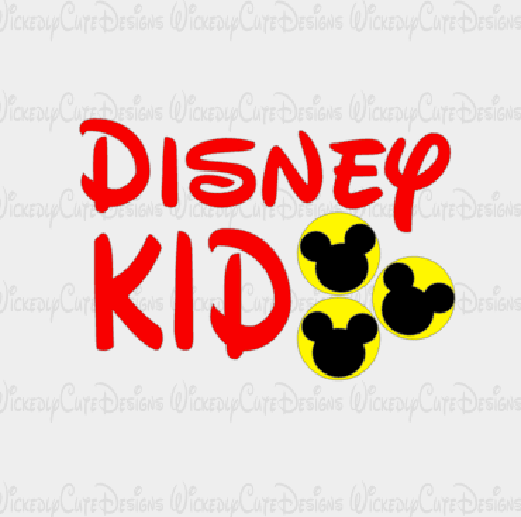Disney Kid SVG, DXF, EPS, PNG Digital File