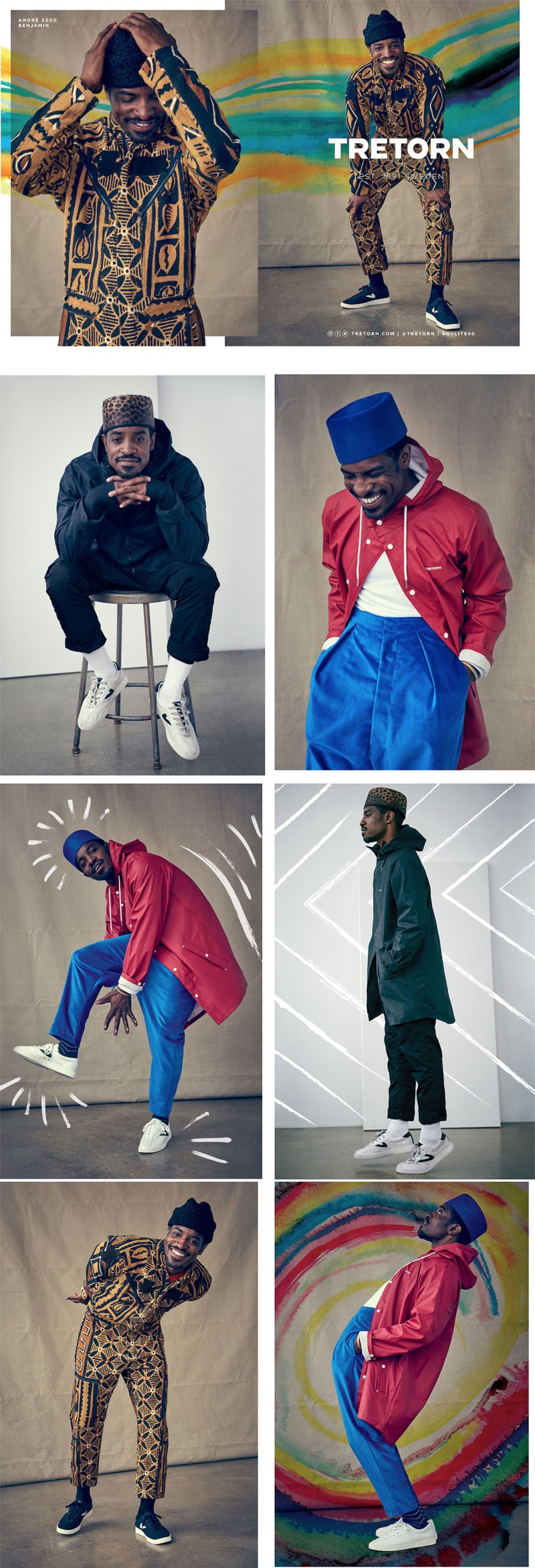 André 3000  in Tretorn's Fall Collection