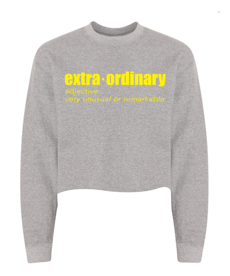 Extraordinary Crop Sweatshirt