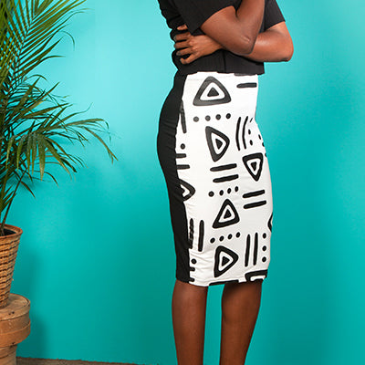 Lebeau Signature Long Pencil Skirt