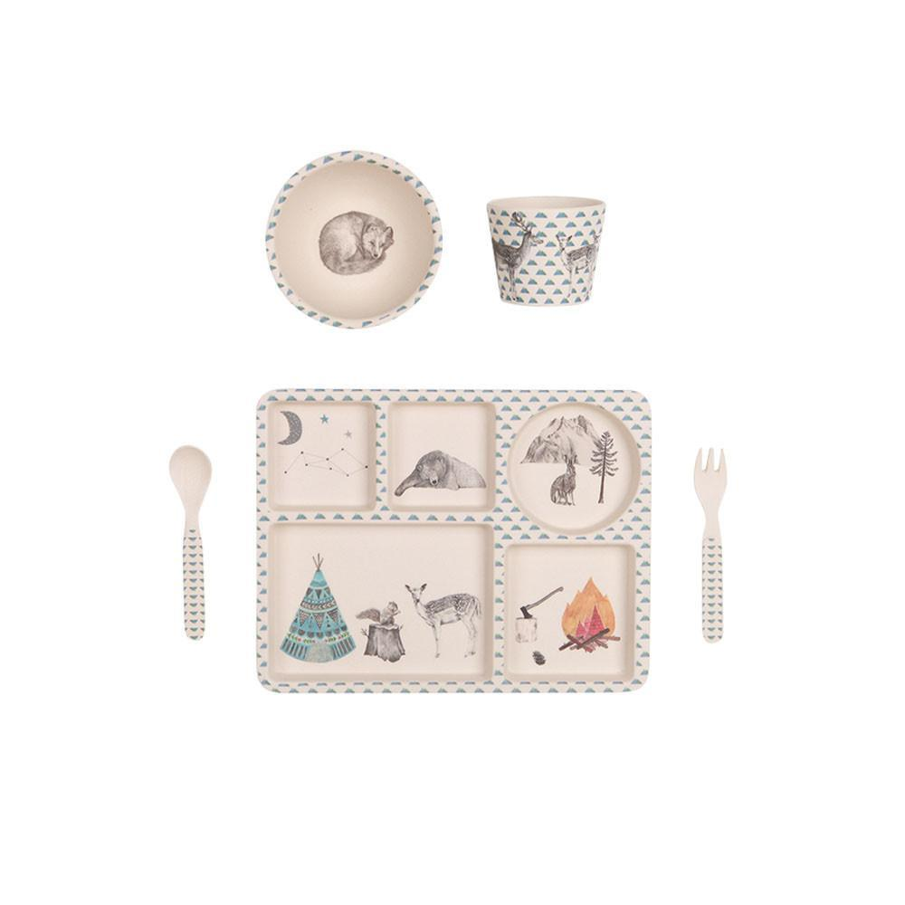 Bamboo 5 Piece Dinner Set | Forest Feast