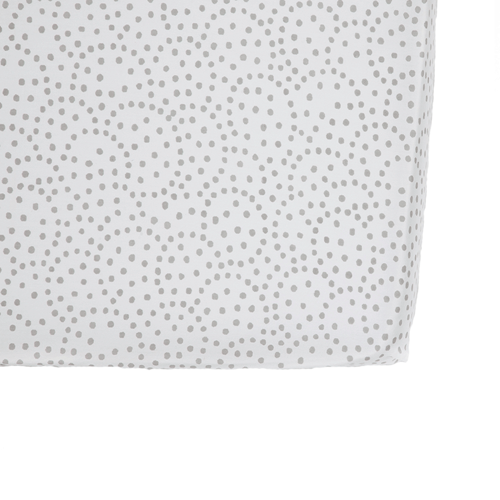 Crib Sheet | Grey Dots