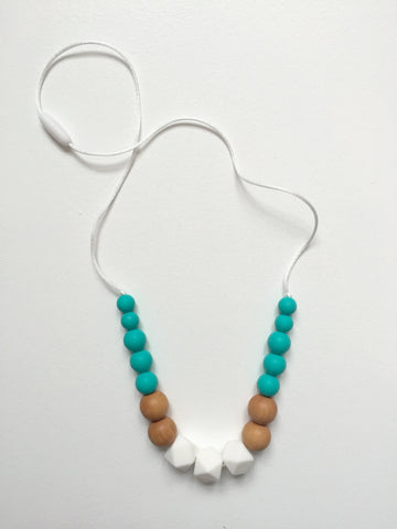 New Horizon Necklace | Turquoise-White